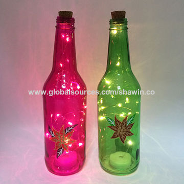 China Colored Decorative Glass Bottles From Nanjing Manufacturer