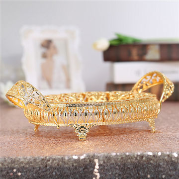 China gold metal fruit serving tray from guangzhou trading company china gold metal fruit serving tray golden decorative for wedding party supplies junglespirit Images