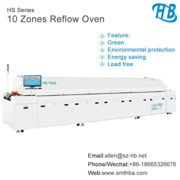 Reflow Oven PCB Soldering Machines With 6 Heating Zones For
