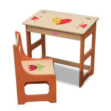 China Solid Wooden School Desk and Chair with 57 x 35 x 53cm Table ...