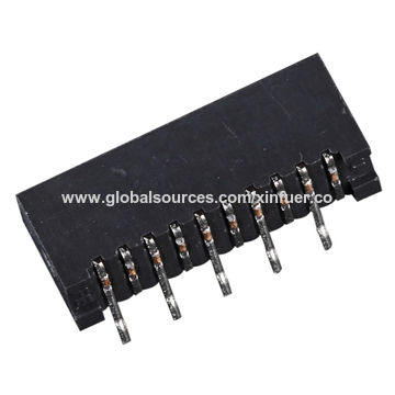 China 1.0mm FPC FFC connector Non-ZIF, DIP and side entry, dual contact, Plastic height: 2.8mm
