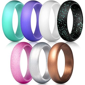 Silicone Wedding Rings Wedding Bands All Sizes for Active Men and