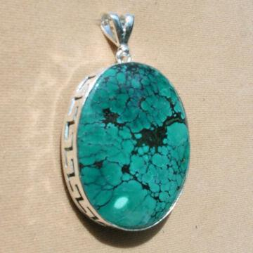 925 sterling silver turquoise gemstone pendant global sources india 925 sterling silver turquoise gemstone pendant mozeypictures Gallery