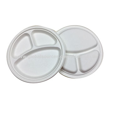 China Bagasse plate suggar cane pulp biodegradble disposable plate 3 compartment  sc 1 th 225 & China Bagasse plate suggar cane pulp biodegradble disposable plate ...