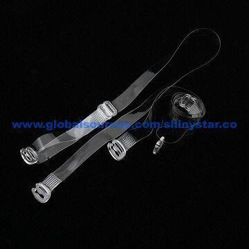 e42fb8130e5b0 Transparent bra straps with plastic hook and slider