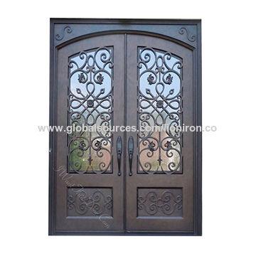 China Single Iron Door Interior Wine Cellar Doors Design Wrought Iron  French Doors ...