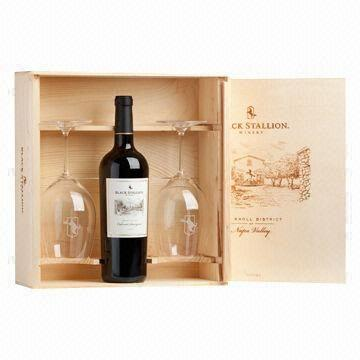 Wine Glass Gift Boxwooden Wine Presentation Boxwine Charming
