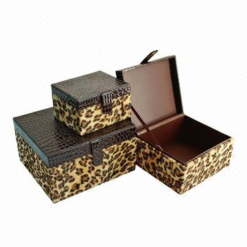 Leopard Luxury PU Leather Storage Boxes China Leopard Luxury PU Leather Storage Boxes  sc 1 st  Global Sources & Leopard Luxury PU Leather Storage Boxes Inner Cardboard Materials ...