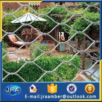 AISI 316 rope wire cable fencing /chain link rope mesh garden fence ...