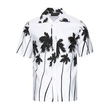 Hawaii Holiday Beach Short Sleeve Dress Shirts Men