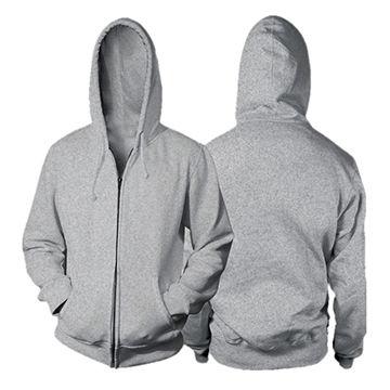 Men s Plain Color Zipper-Up Blank Zip Hoodie  08e48126798d
