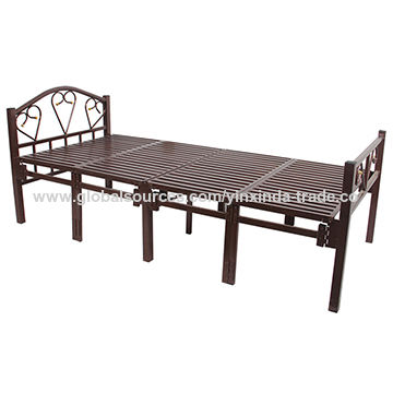 China Foldable platform bed frames, fold bedding with 15 legs on ...