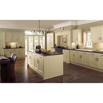 Cream colour wood kitchen cabinet | Global Sources