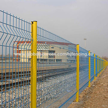 High Quality Curved PVC Coated Peach Post Welded Wire Mesh Fencing ...