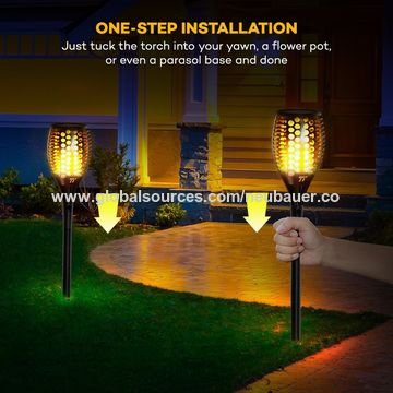 China Solar Garden Lights Ed Torch Light Outdoor Path Lighting Auto On Off With