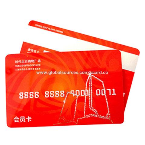 China Plastic Magnetic Stripe Reward Card From Shenzhen Wholesaler