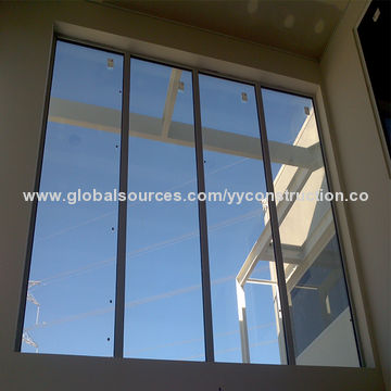fixed glass window frameless global sources china aluminum fixed glass window good sundproof with blue tinted and thermal break profile
