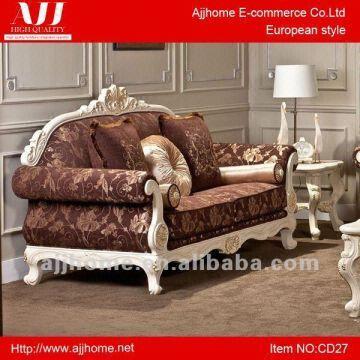 China Livingroom Sofa Set/livingroom Furniture/classic Western Style Fabric  Chesterfield Sofa Cd27