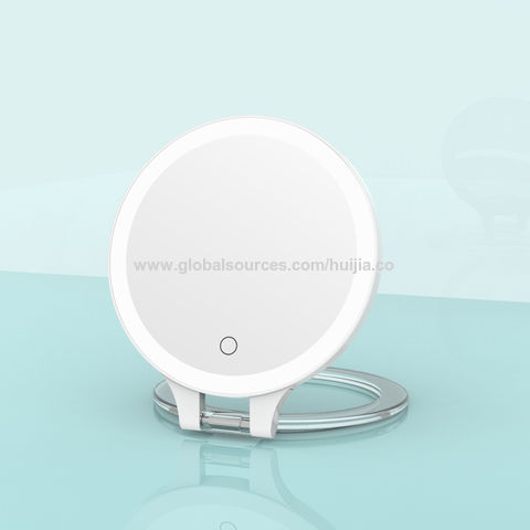China 10x Magnifying Double Sided Round, Battery Makeup Mirror