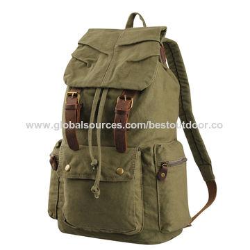 02011869d7 ... China 2016 New Men s Backpack Vintage Canvas Backpack for Laptop ...