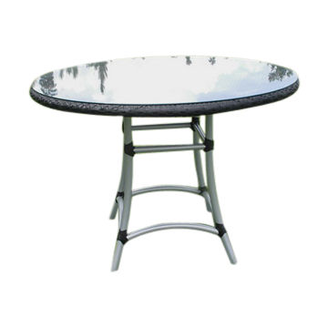 Foldable Round Patio Table With Gl Top Made In Vietnam Customized Designs Are Welcome