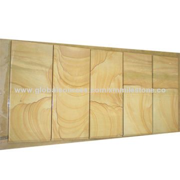 Yellow Sandstone With Mountain Veins For Floor And Wall Tiles