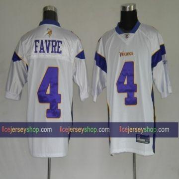 reputable site e90d3 2dd7e NFL Jersey Minnesota Vikings #4 Brett Favre White Jersey ...