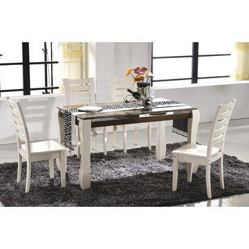 La mesa de comedor barata del top del mármol de China fija, mesa de ...