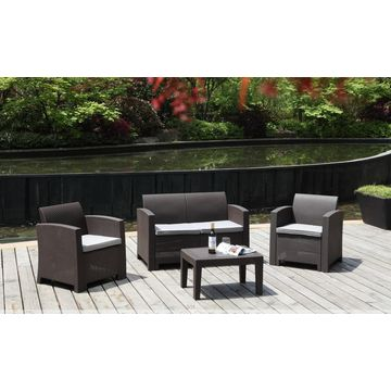 Outdoor plastic rattan sofa | Global Sources