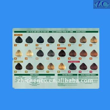 China Hair Color Chart And Synthetic C