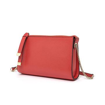 China Ladies' fashionable genuine leather shoulder bag with the latest design