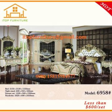 8a26b6ad9cb1 China Arabic style Malaysia latest antique luxury classic wedding cheap bedroom  furniture sets designs