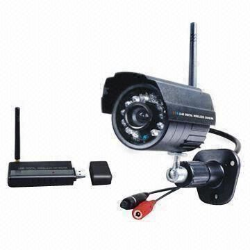 Digital Wireless USB Network Camera Kit for Outdoor and Motion Detection Recording