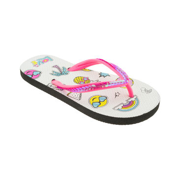 cf5b361cb77f ... China Wholesale girl s customized flip flops with beads thong PE  outsole ...