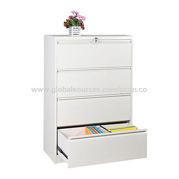 China Lateral Filing Cabinet 4 Drawer, Global 4 Drawer Lateral File Cabinet
