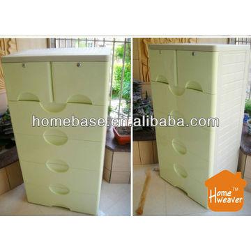 China Outdoor Storage Cabinet Storage Cabinet Plastic 5 Drawers Children Toys  Storage Cabinets Factory