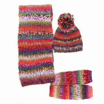 ... China Winter hat glove scarf set 7d59b852dd0
