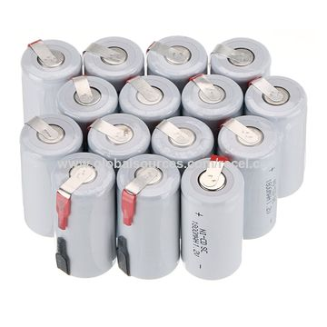 China 1.2V 1800mAh NiCd Rechargeable Battery Sub C SC with Tabs