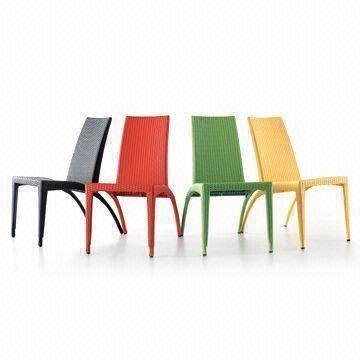 Pe Rattan Outdoor Patio Stackable Chairs With Optional Colors Uv