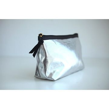 Silver dumpling shape PVC cosmetic bag,new design in 2014,fashion and lovely