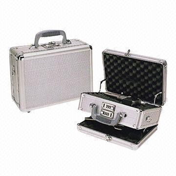 Aluminum gun case with double-side opening, lid and bottom with wave on aw gun, mm gun, gm gun, dd gun, tt gun, mr gun, sg gun, sk gun,