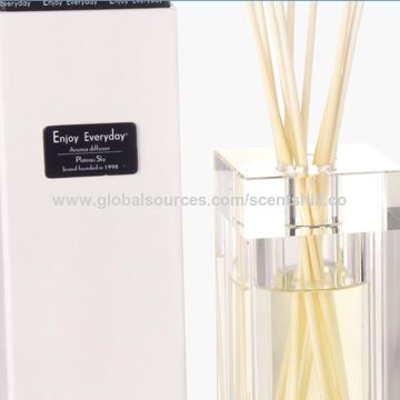 China Luxury wholesale 100ml best gift crystal glass fragrance reed diffuser
