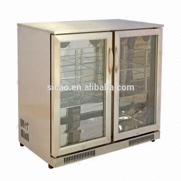 2 Doors Stainless Steel Under Counter Back Bar Fridge Type Cafe