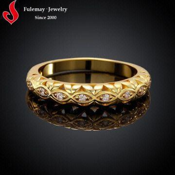 Beautiful gold ring simple design fashion style FCR031 A B