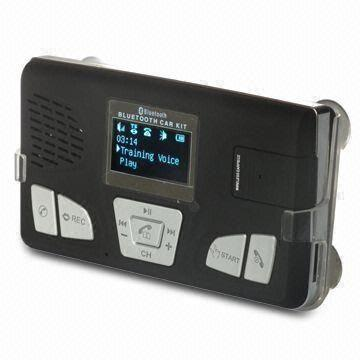 Solar Panel, Bluetooth Hands-free Car Kit, Voice Dial and Control