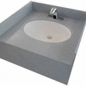 China Countertop Bathroom Basin/Vanity Top With Staron/Corian Solid Surface