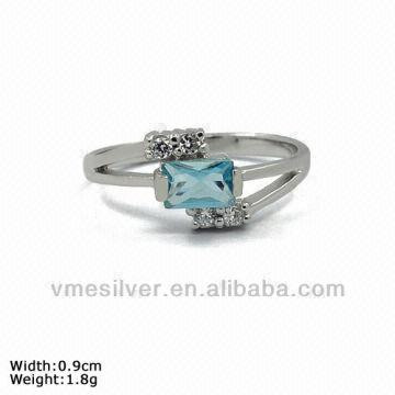 1aef4af09 rzr-1077]925 Sterling Silver Ring,simple Silver Cz Ring   Global Sources