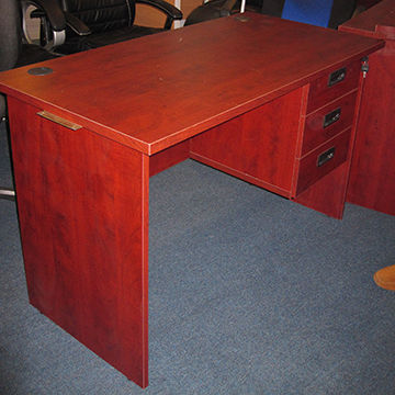 China Apple Wood Office Writing Table With Cabinet ...