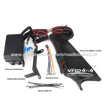 china car parts accessories-4 channel switch with control box and wiring  for jeep jk