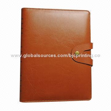 PU leather hard cover book printing service, gloss and matte